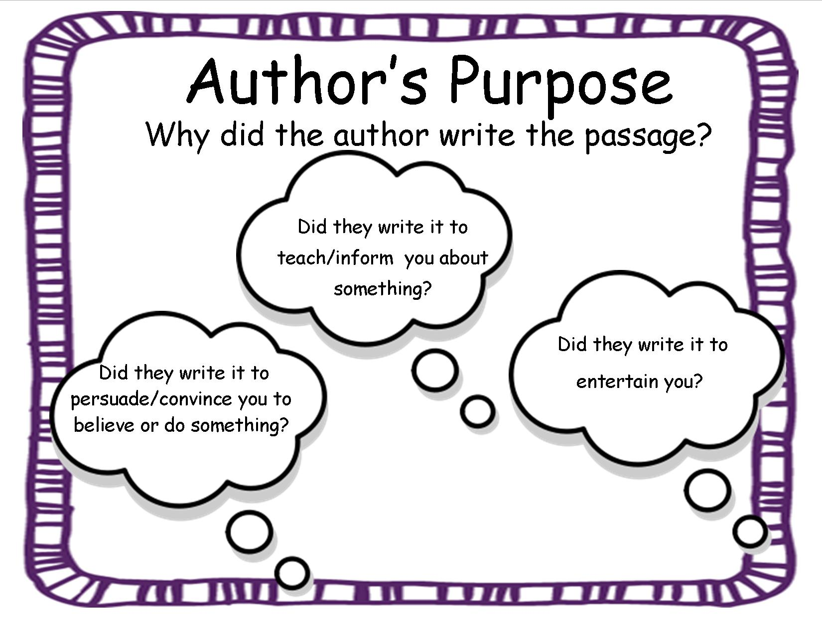 Author S Purpose 2nd Grade Worksheets