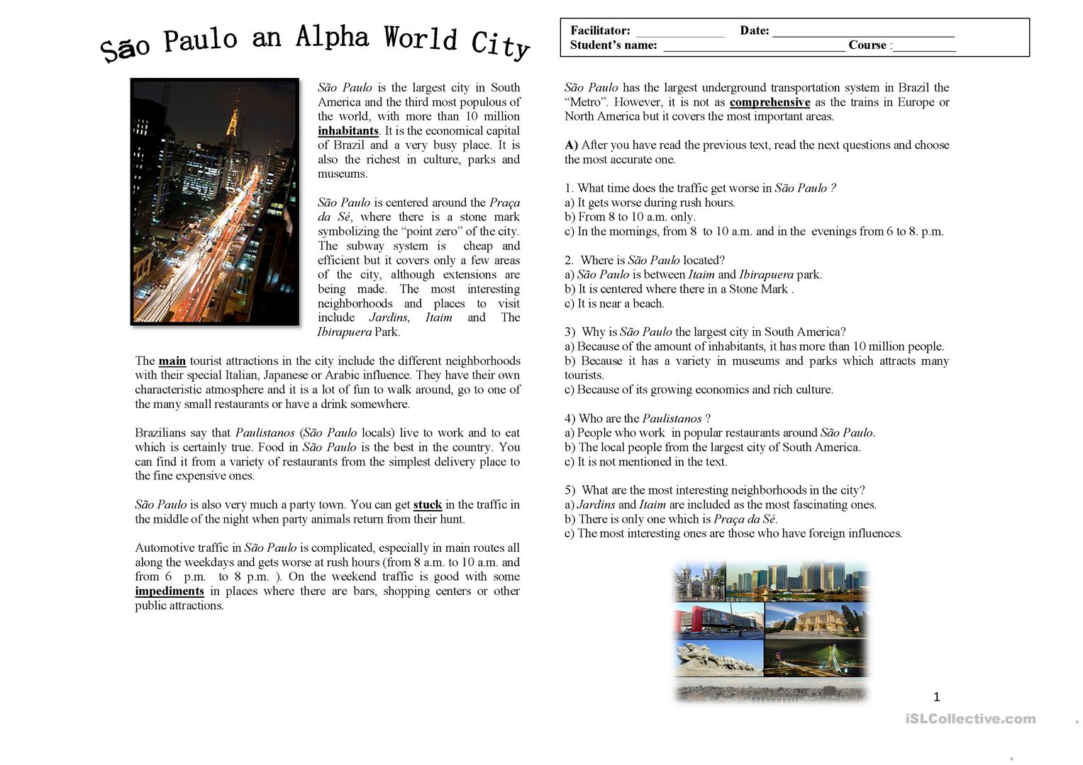 New York Worksheets