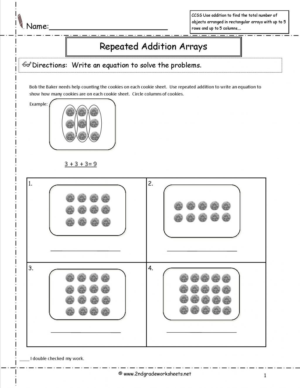 2nd Grade Array Worksheets
