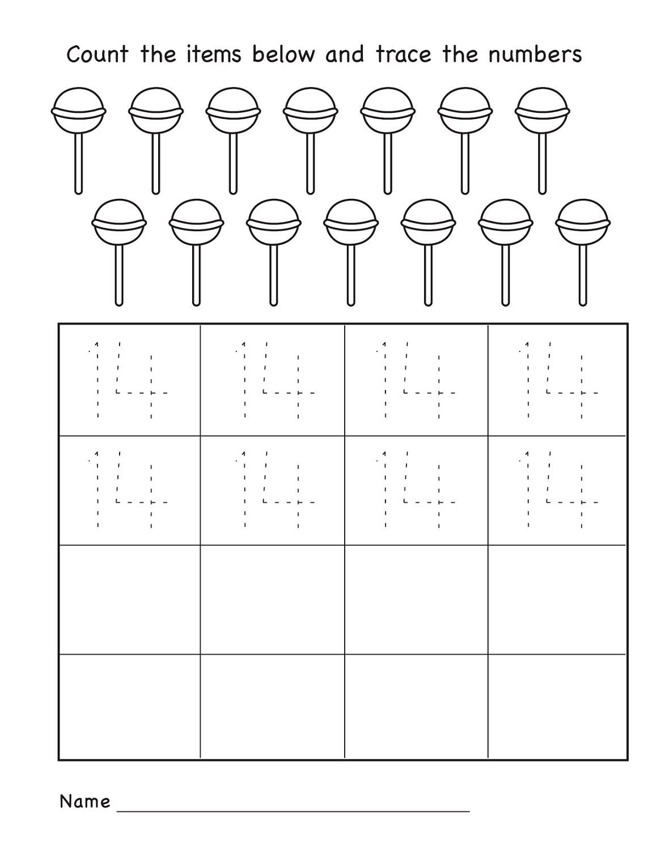 Number 14 Worksheets For Preschool