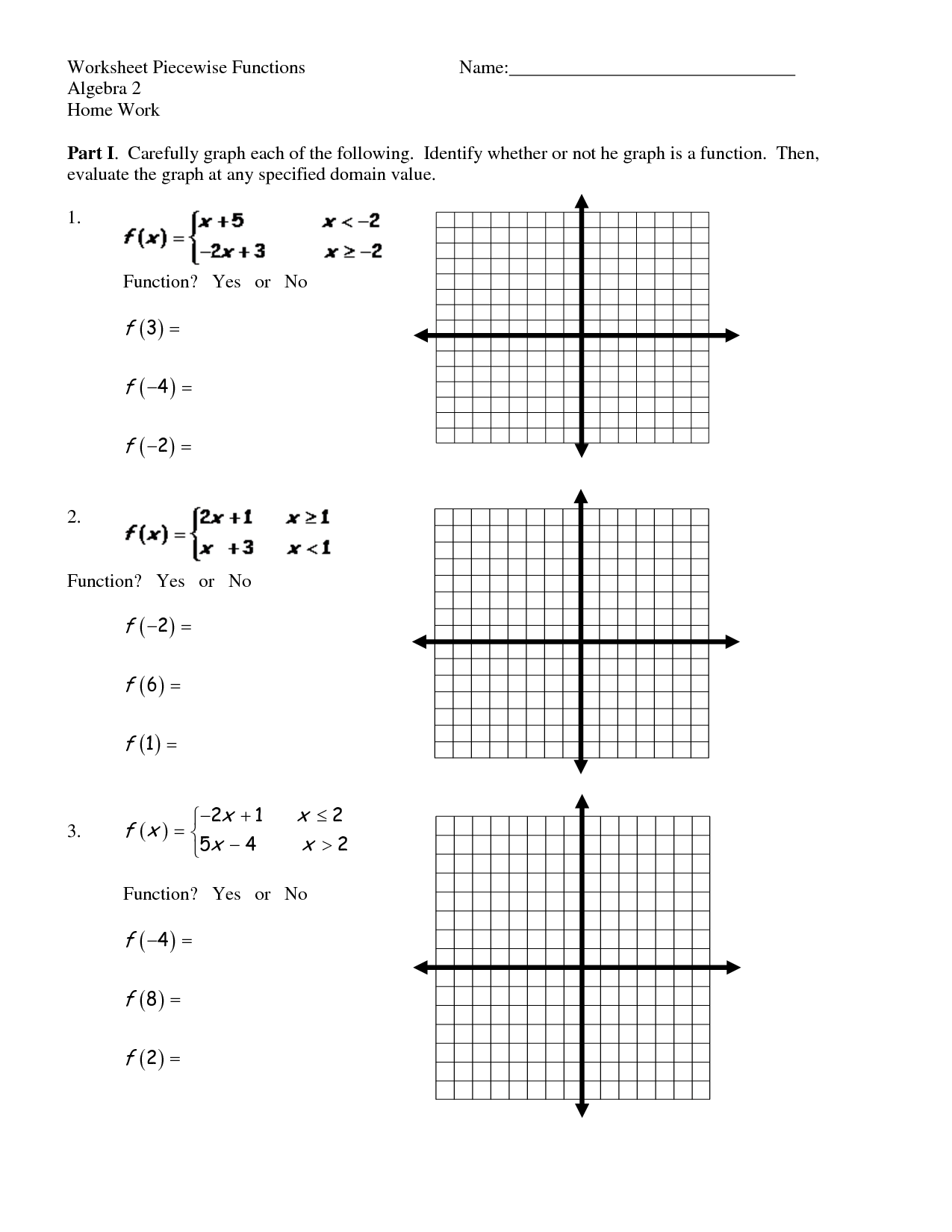 Amr Piecewise Functions Worksheets Answers