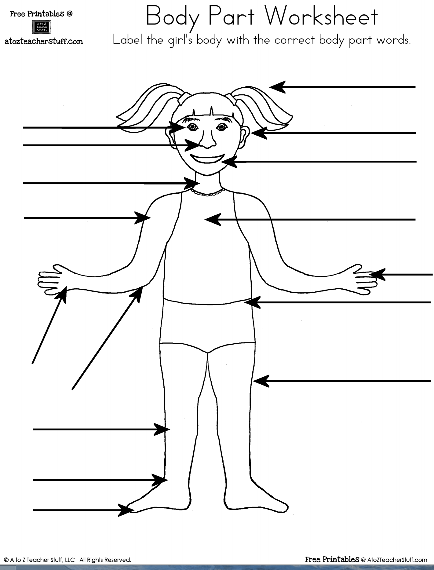Collection Of Identify Body Parts Preschool Worksheets