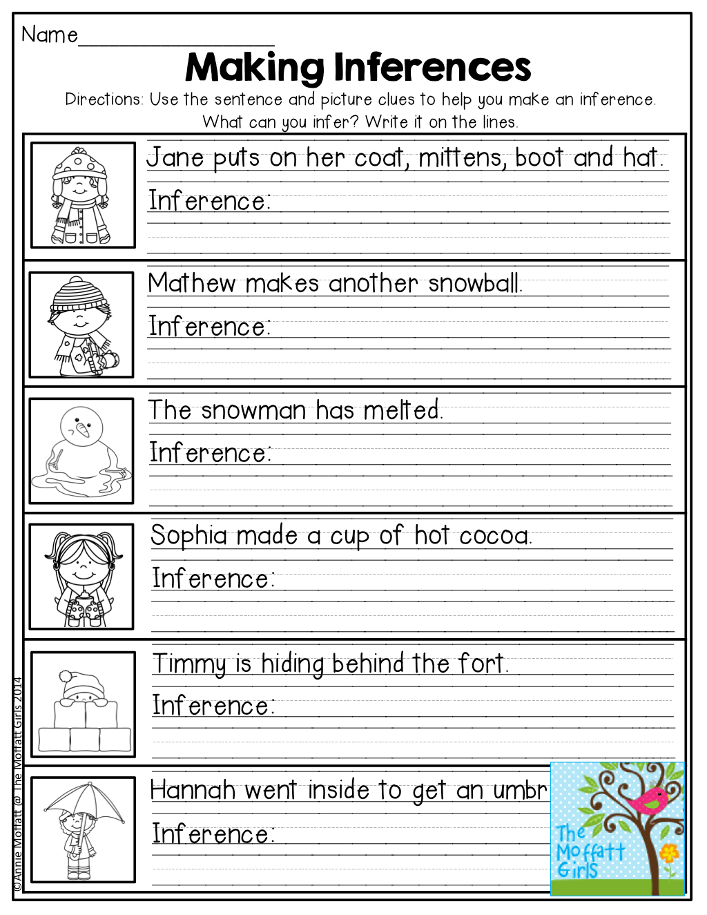 Inferencing Worksheets 2nd Grade