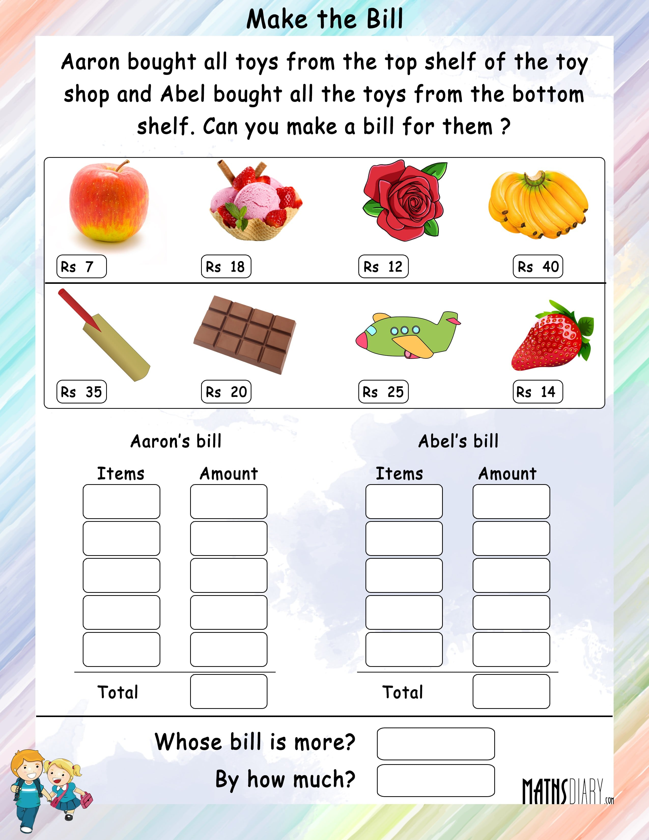 Math Worksheets Grade 3 Money Worksheets Samples