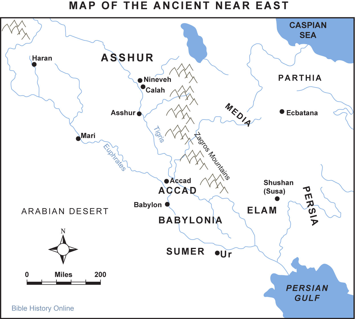 Map Of Ancient Mesopotamia Worksheets