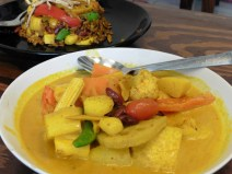 Curry con vegetales