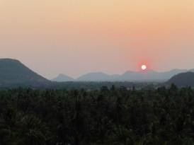 Puesta de sol en Battambang