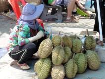 Vendedora de durian