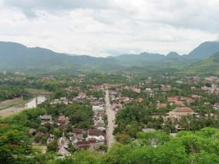 Vistas de Luang Prabang desde Phou Si