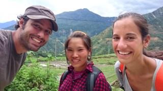 Con nuestra guía Shom en Sapa
