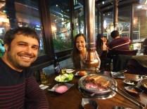 Barbacoa coreana en Itaewon