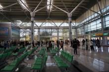 Turistas en la estación de tren de Dorasan