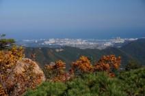 Vistas de Sokcho desde Seoraksan