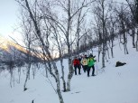 Excursión con raquetas en el Parque Nacional de Møysalen