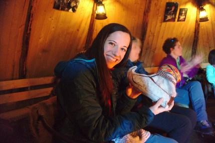 Zapatos sami para adaptar a los esquís