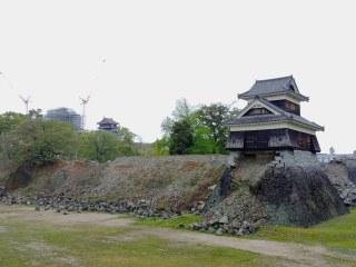 Castillo de Kumamoto tras el terremoto