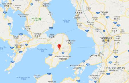 Unzen en la península de Shimabara