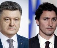 Порошенко провел телефонный разговор с Премьер-министром Канады