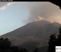 Вулкан Попокатепетль в Мексике снова активизировался