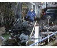 В Швеции самолет разбился возле частного дома