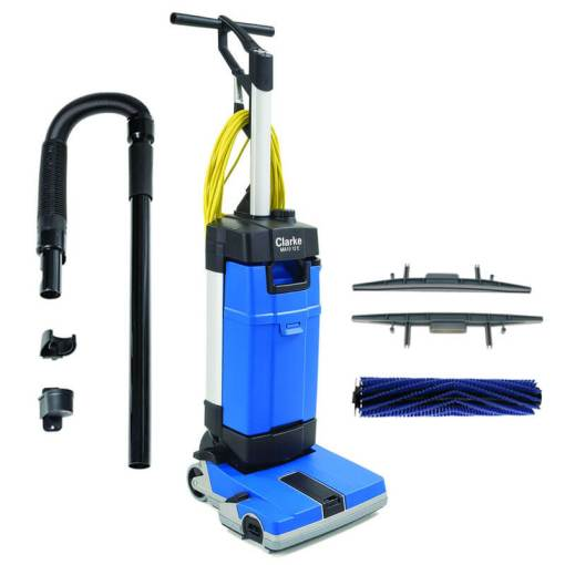 MA10 12EC Upright Automatic Floor Scrubber w  Carpet Tool Kit   UnoClean Clarke MA10 12E Automatic Floor Scrubber