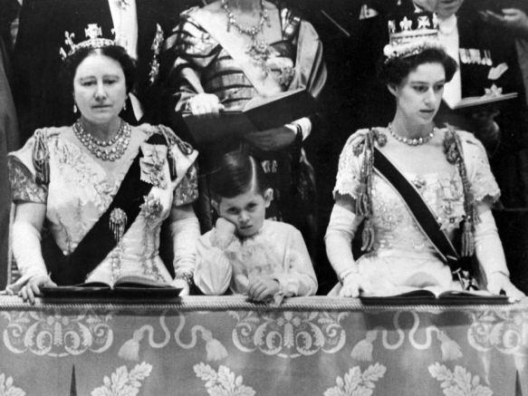 Charles bored coronation