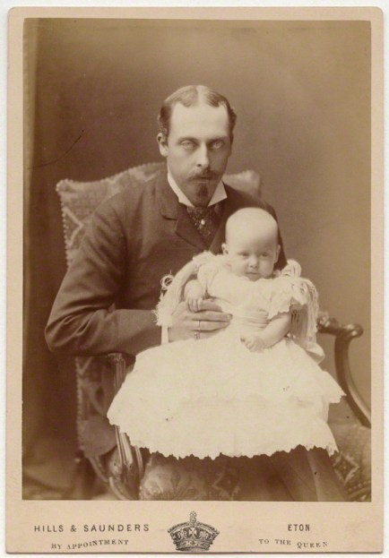 Prince Leopold, Duke of Albany; Princess Alice, Countess of Athlone by Hills & Saunders albumen cabinet card, 1883 NPG Ax5552 © National Portrait Gallery, London
