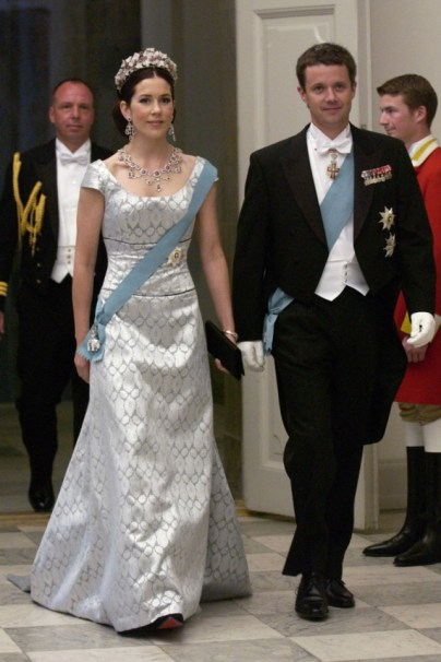 The couple attending the Gala at Christiansborg Palace