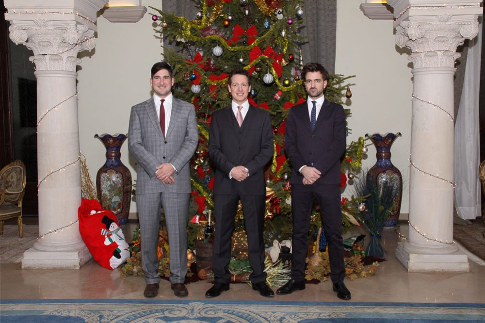 Prince Alexander, Prince Philip, and Hereditary Prince Peter. photo: The Royal Family of Serbia