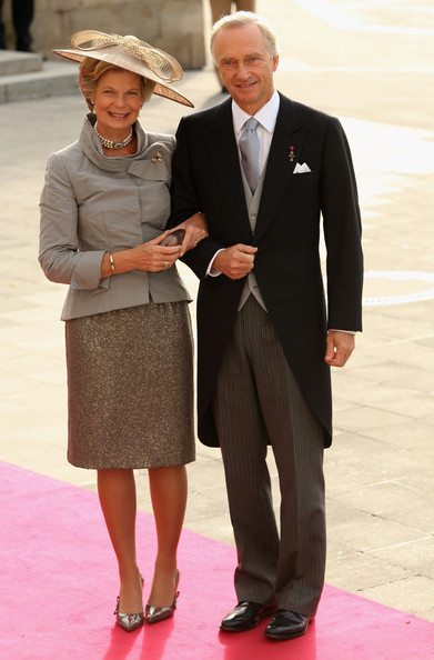 Archduke Carl Christian and Archduchess Marie-Astrid at the 2012 wedding of Hereditary Grand Duke Guillaume of Luxembourg. photo: Zimbio