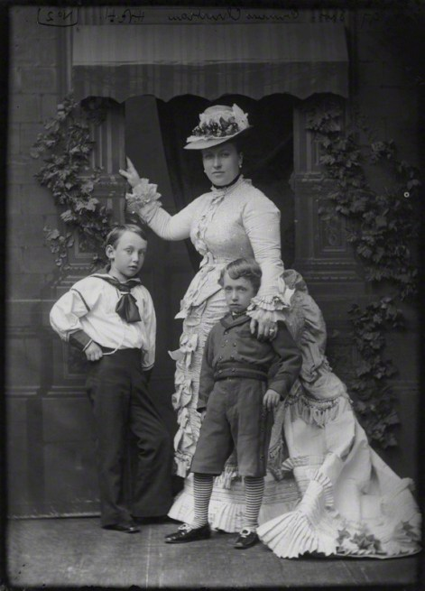 Princess Helena with her sons Christian Victor and Albert, c. 1875. source: National Portrait Gallery. NPG x95876