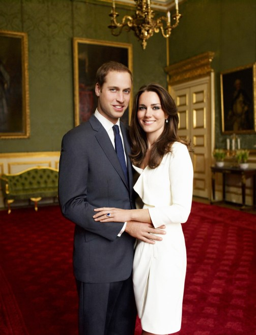 Official Engagement photo of Prince William and Catherine Middleton. source: British Monarchy, photo by Mario Testino
