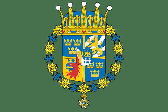 Coat of Arms of Prince Oscar of Sweden, Duke of Skåne, as designed by Henrik Dahlström, heraldic artist, the National Archives. source: Swedish Royal Court