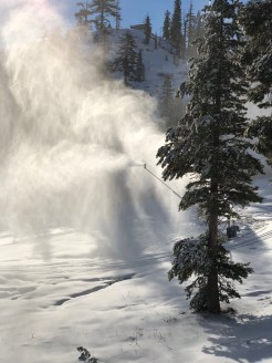 Snowmaking at the base of Summit Six (Photo: Oznorts)