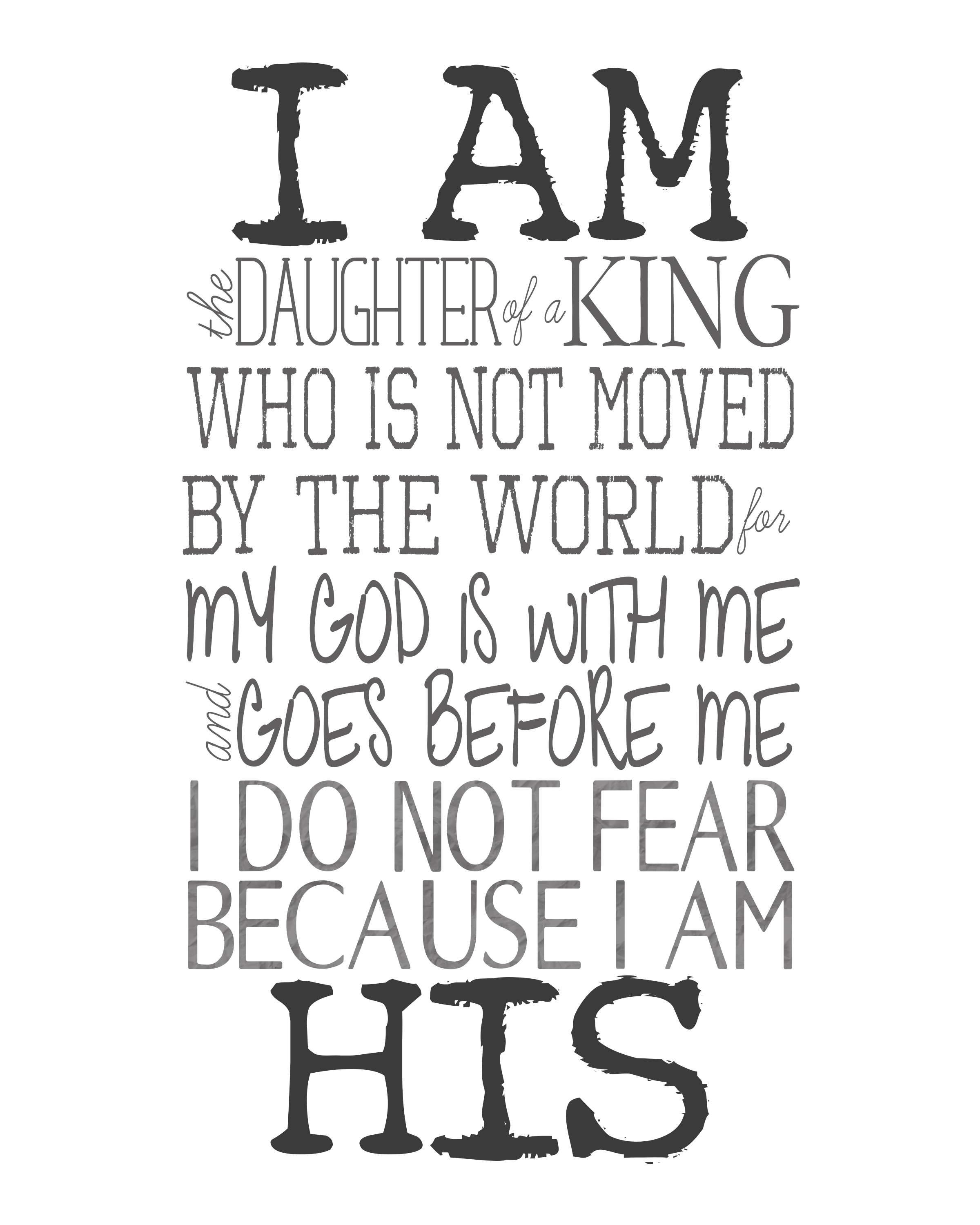 Free Printable I Am His