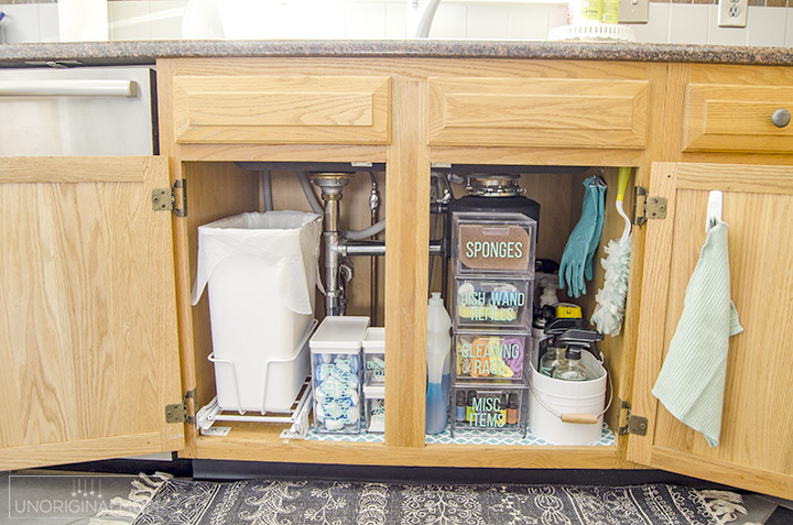 under the sink organization before and