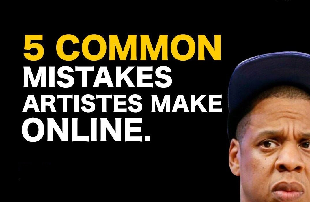 5 Common Mistakes Artists Make Online