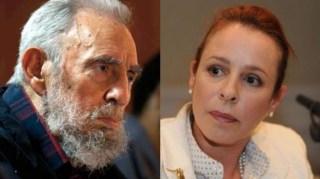 Fidel Castro y su hija Alina