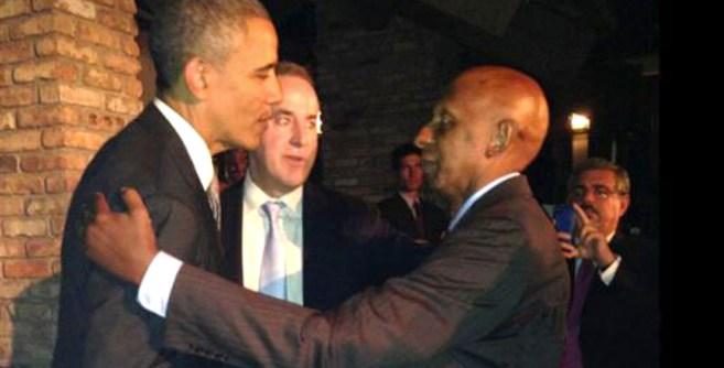 Obama, en su encuentro con Fariñas. TV MARTÍ