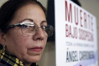 La viuda de Oswaldo Payá, Ofelia Acevedo, durante la presentación del libro de Angel Carromero,