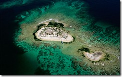 A sandy cay off of Útila Island, Honduras