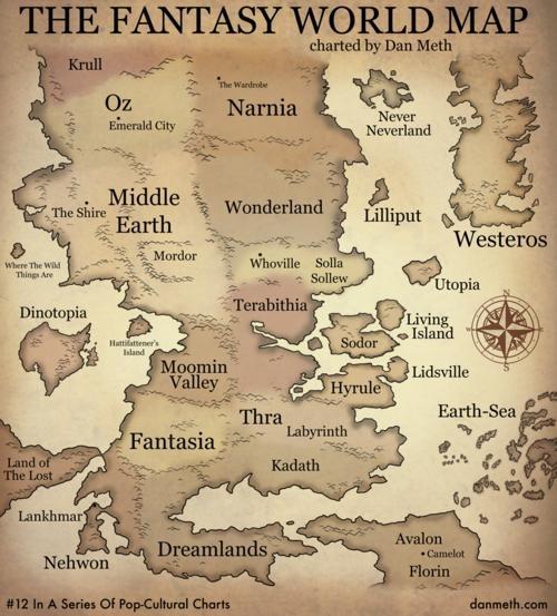 Mapa de las tierras de fantasía