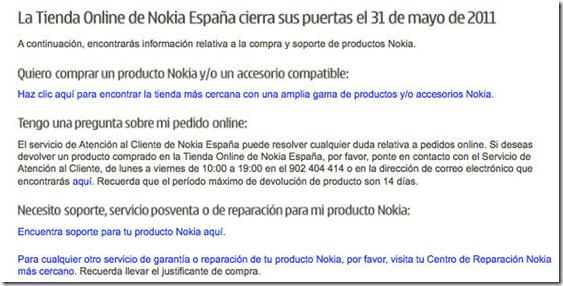 nokia-online-store-espania-cierra