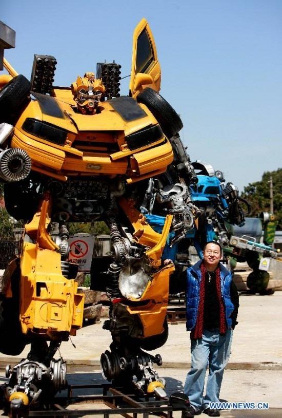 Un parque de transformers en China