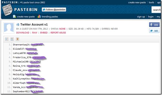 pastebin twitter usernames hacked - unpocogeek.com