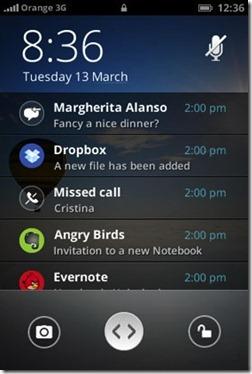 firefox OS - screenshot - notification area