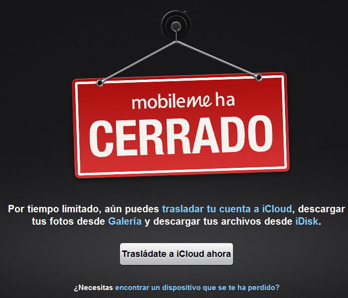 Finalmente se cierra MobileMe