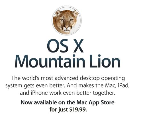 mountain lion OS X launched - unpocogeek.com