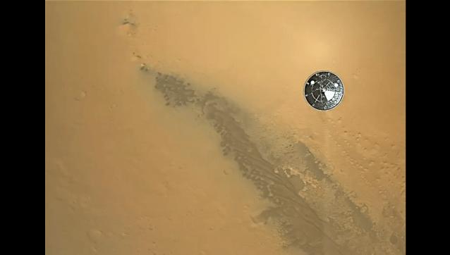 Increíble video en HD del aterrizaje de Curiosity en Marte