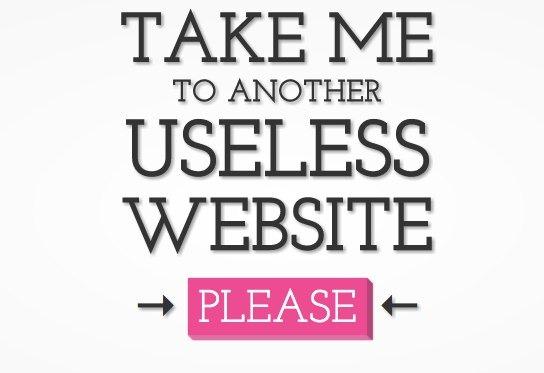 Llévame a una pagina web sin sentido…
